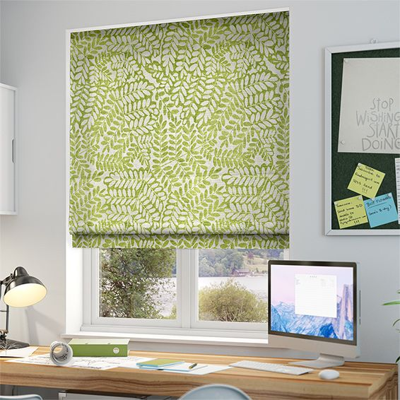 Artemis Apple Green Roman Blind