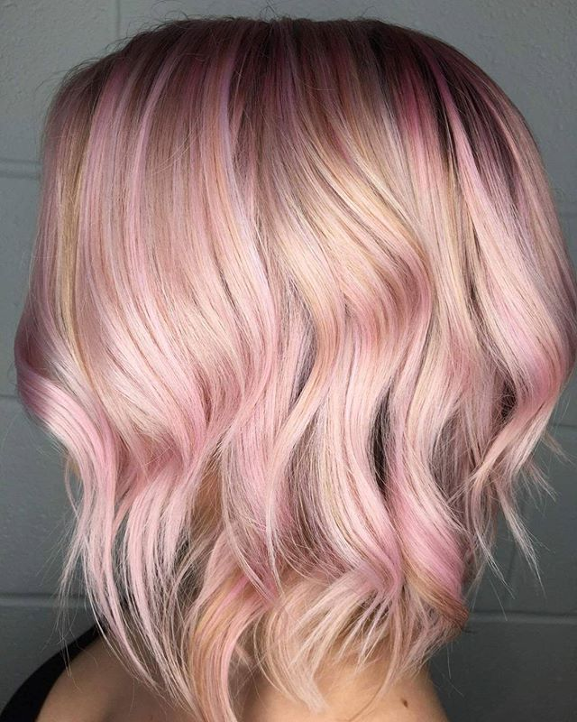 @hales93 requested a rosey blonde and I gave her just that using @joicointensity pink shades! We are obsessed ❤ #behindthechair #modernsalon #americansalon #stylistshopconnect #stylistssupportingstylists #kansascity #kansascityhair #kcmo #maneinterest #rose #pink #pinkhair