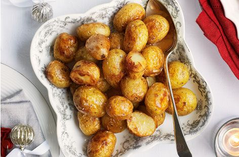 Ingredients      1 1/2 pounds of smallish new potatoes (red or yellow skinned), cleaned, cut in ...