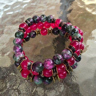 Jade Bracelet, Wrist Mala Beads, Chakra Bracelet, – AwakenYourKundalini