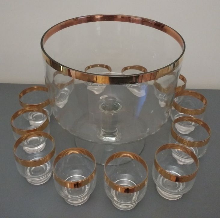 A Midcentury punch bowl set for only $65!