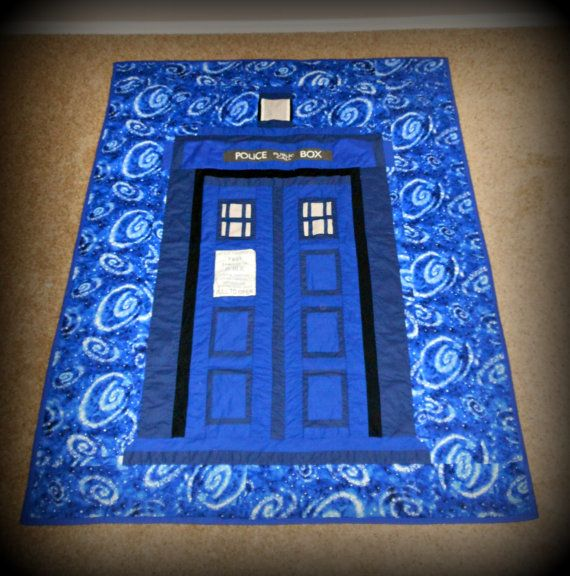 tardis quilt pattern | Tardis Quilt (TWIN SIZE) (Message me for other sizes available)