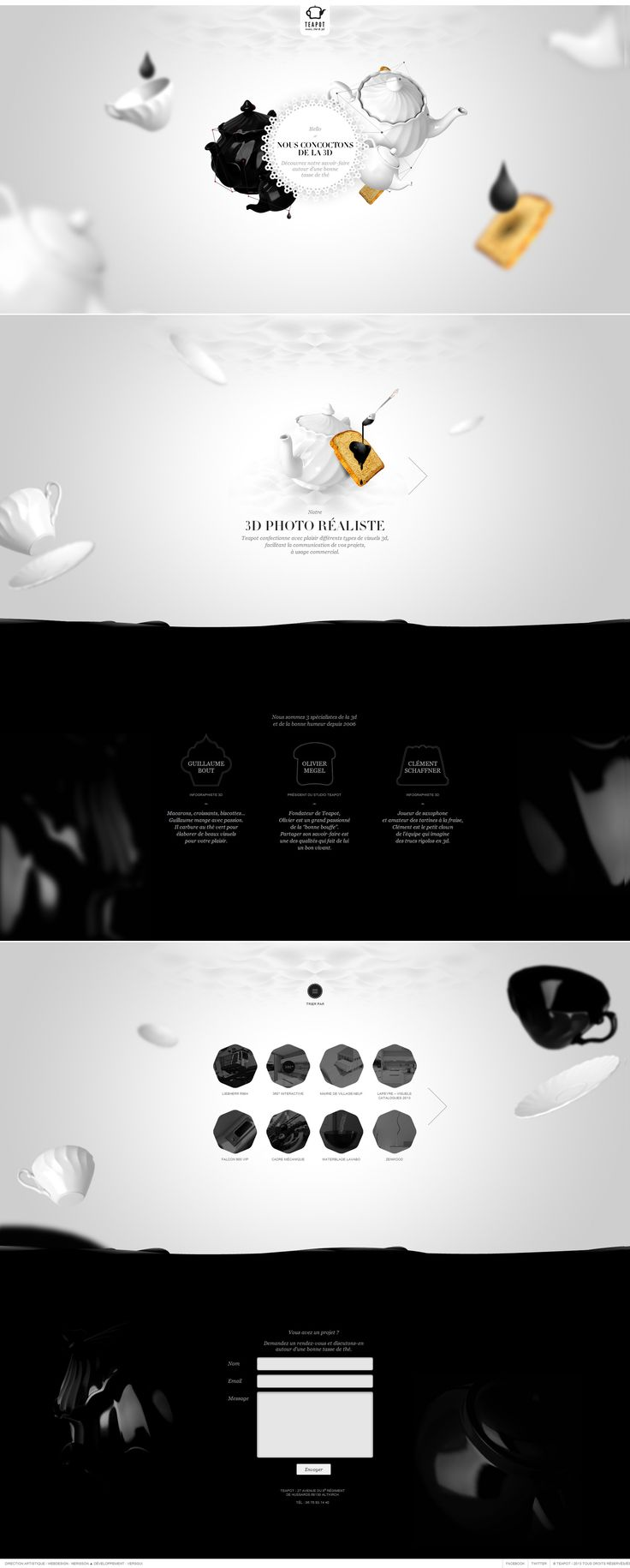 http://www.teapot-creation.com/#/page/home | #webdesign #it #web #design #layout #userinterface #website #webdesign < repinned by www.BlickeDeeler.de | Take a look at www.WebsiteDesign-Hamburg.de
