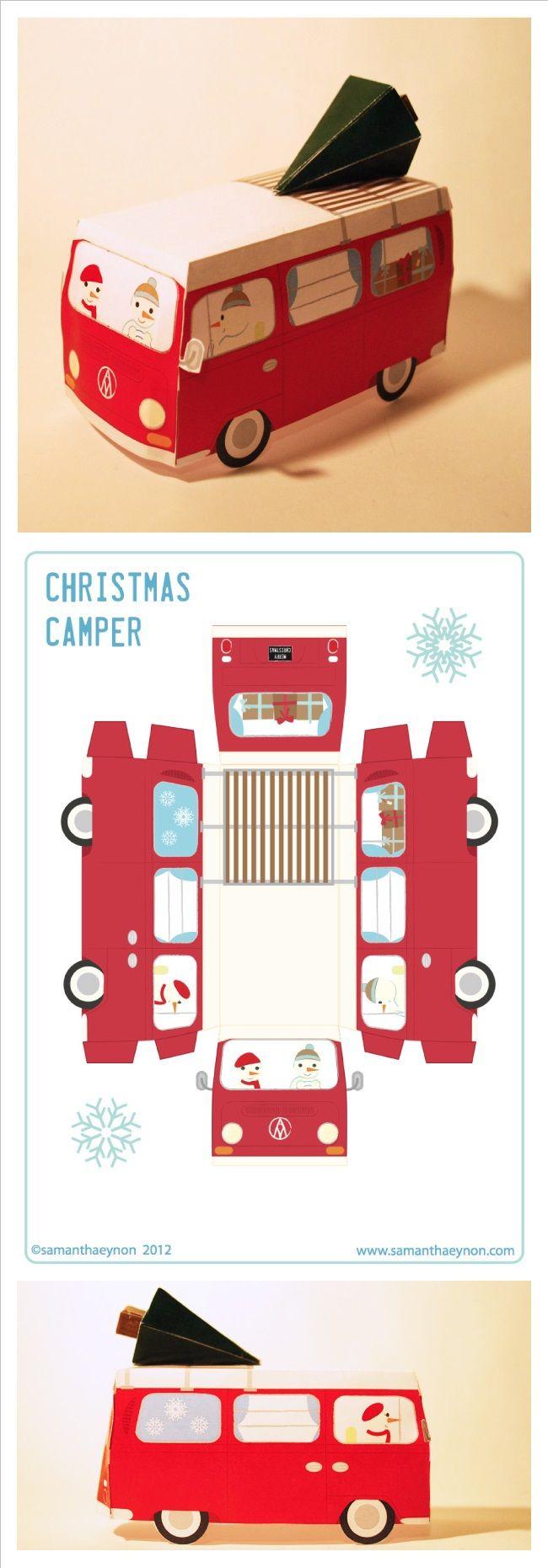 3D Printable Christmas Camper