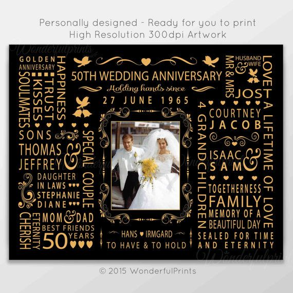9 best gift ideas images on pinterest 50th anniversary for Best gifts for 50th wedding anniversary