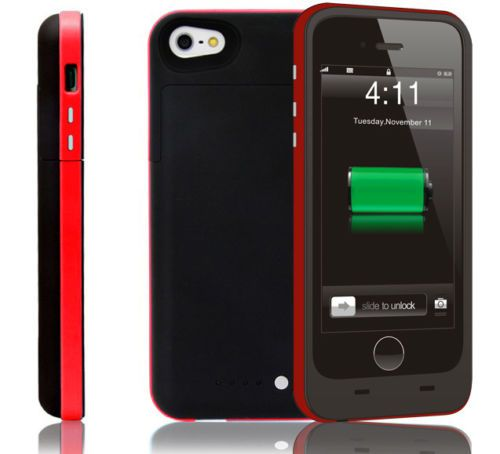 Black and red coloured mobile phone charger case for apple iphone 6 6s mobile phones