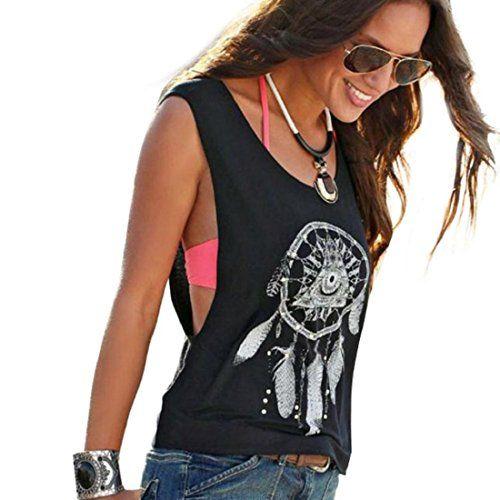 nice Tongshi Las mujeres sin mangas Impreso Dreamcatcher tapas de la cosecha del tanque del chaleco de la camisa camiseta Mas info: http://www.comprargangas.com/producto/tongshi-las-mujeres-sin-mangas-impreso-dreamcatcher-tapas-de-la-cosecha-del-tanque-del-chaleco-de-la-camisa-camiseta/