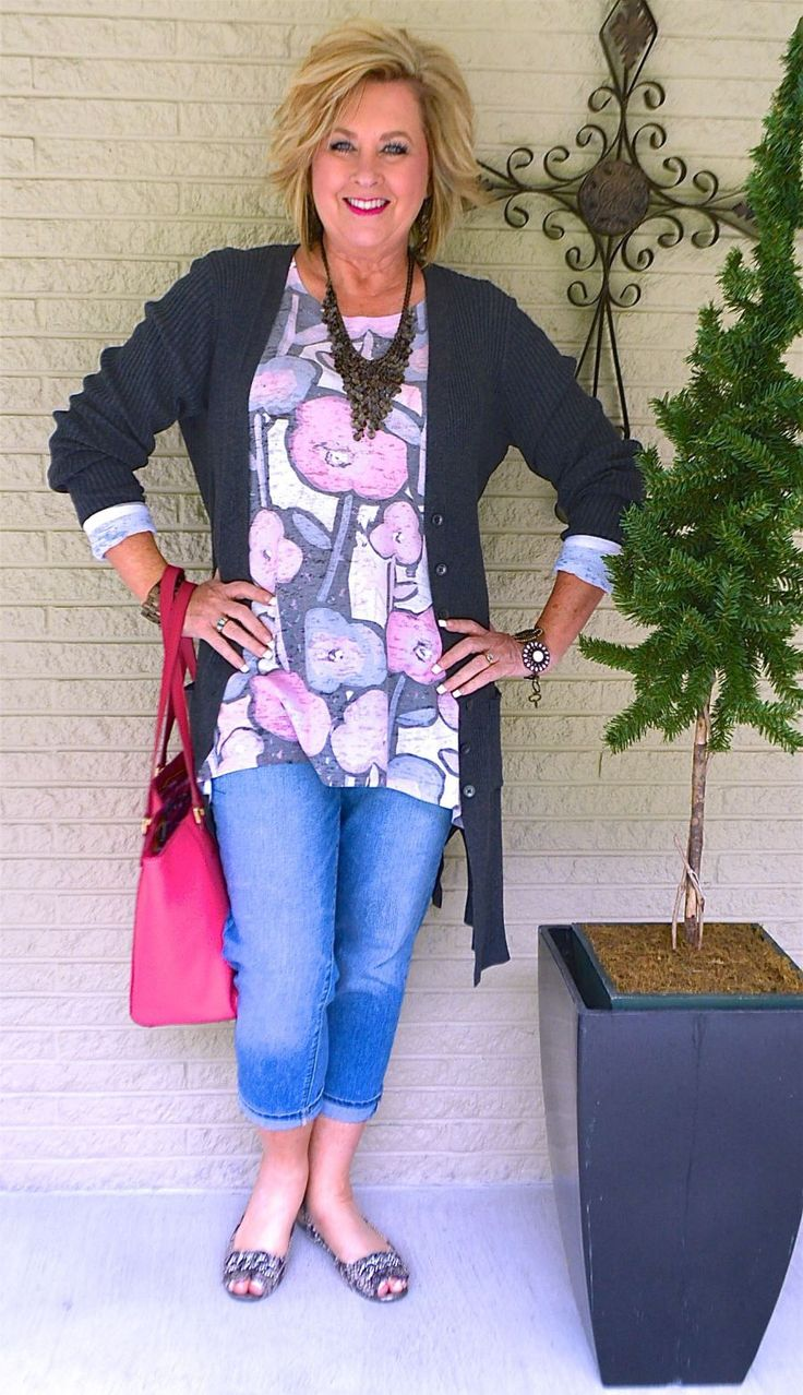 50 IS NOT OLD | COOL MORNINGS OF SPRING | Tunic or Tee | Boyfriend Jeans | Duster | Fashion over 40 for the everyday woman