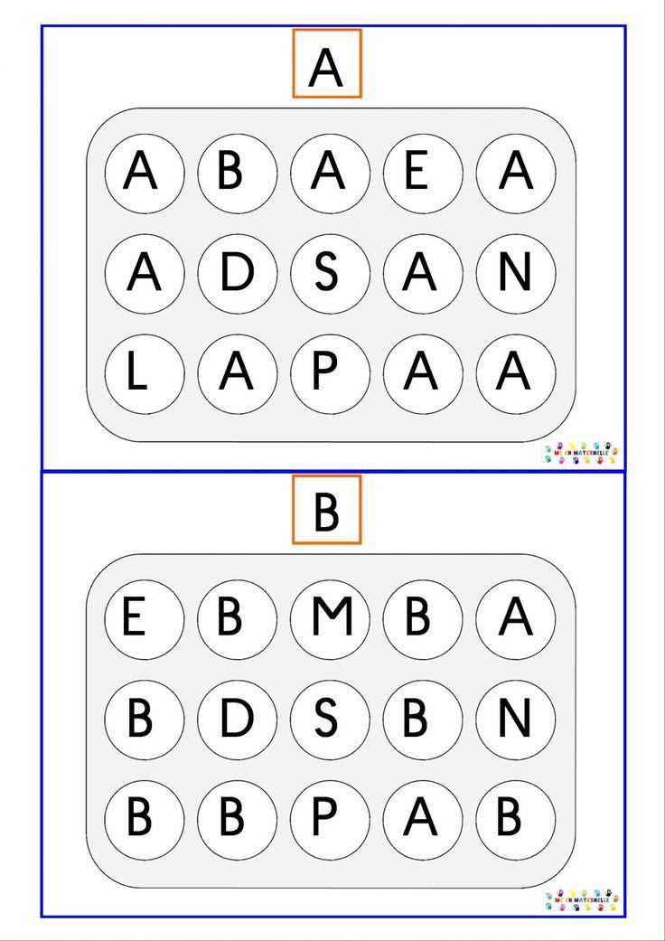 Sur une idée de La classe de Laurène,le classeur des lettres :      Voici le même style d'atelier de manipulation pour les PS avec uniquement des majuscules ...  A imprimer et à plastifier et à utiliser avec des jetons comme ceux-ci           Atelier Lettres Majuscule