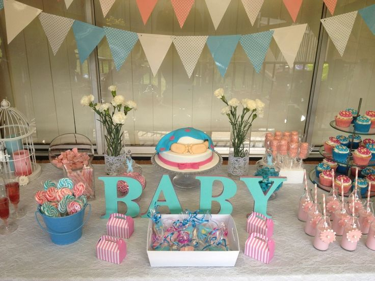 Pink And Blue Baby Shower Decorations Baby Interior Design