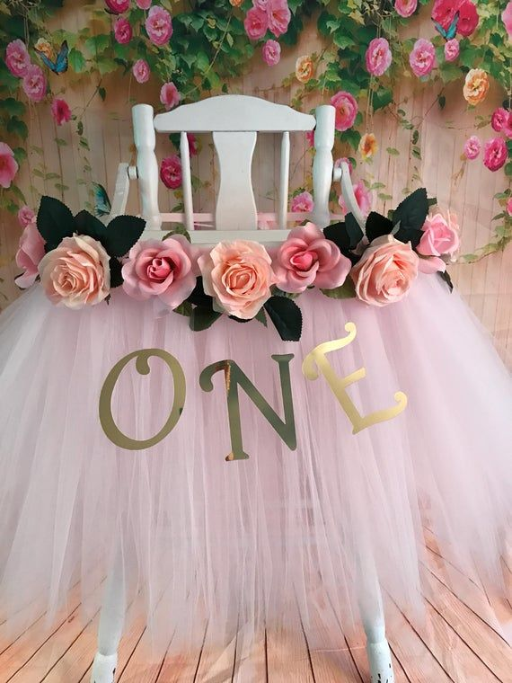 High Chair Tutu Highchair Tutu Skirt Light Pink High Chair Tutu Highchair Skirt High Chair Skirt 1st Birthday High Chair Banner Avec Images Chaise Haute Rose Jupe De