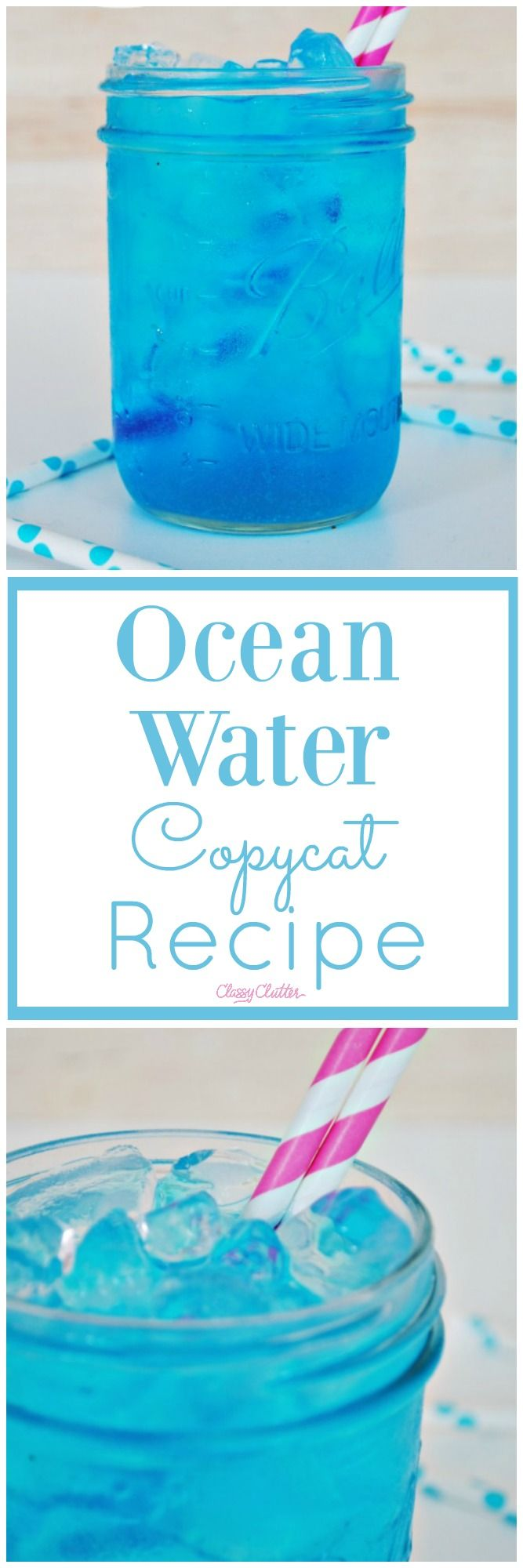 Sonic Ocean Water Copycat Recipe - This is so yummy!!! Click for the recipe