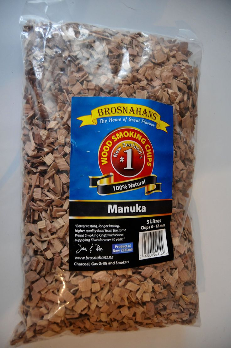 New Zealand Gourmet Wood Smoker Chips, BBQ Wood Chips for Grilling and Smoking,100% Manuka 1/4-1/2in Chips, 3 Liter Bag (183cu.in.)