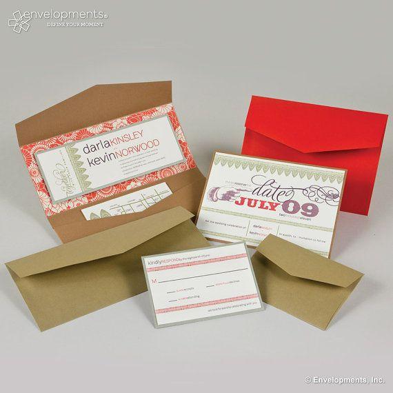 red wedding invitation design - cketch.com