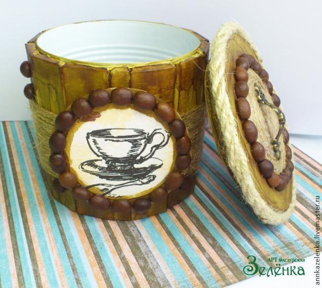 """Создание сахарницы с крышкой """"Кофейные мотивы"""" - Ярмарка Мастеров - ручная работа, handmade"""