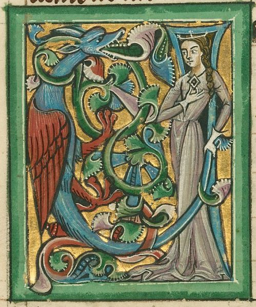 The Mother of Dragons, depicted by an unknown illuminator, about 1240 – 1250. (Photo: J. Paul Getty Museum)