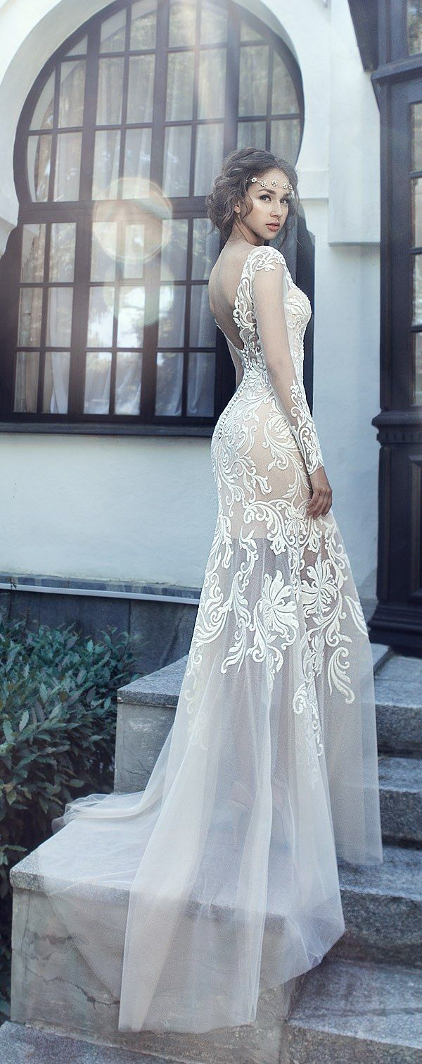 1335 best Long sleeve wedding gowns. images on Pinterest | Wedding ...