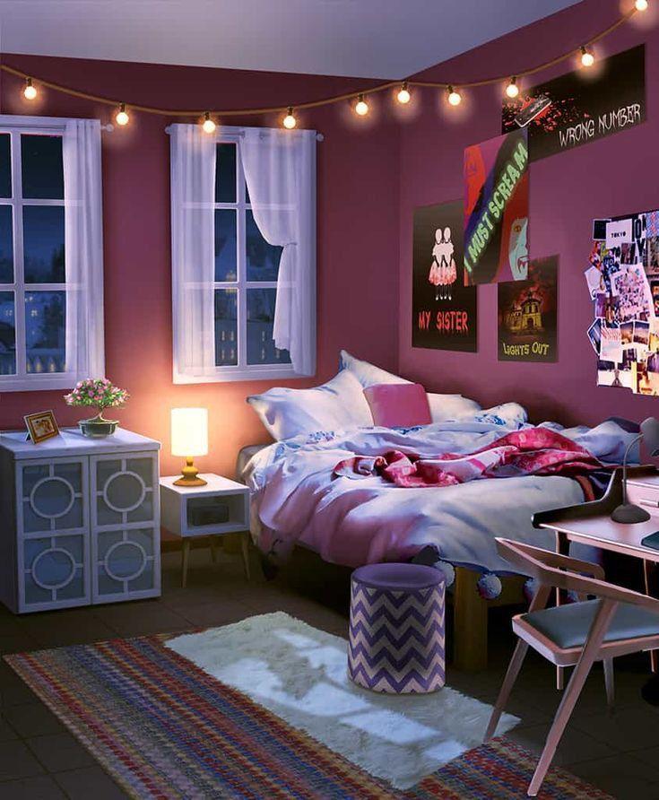 Cute Anime Bedroom Background Variant Living Ide Kamar Tidur Ruangan Dekorasi Rumah