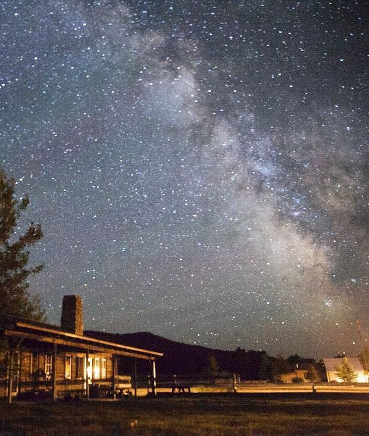 The Milky Way in Montana at The Ranch at Rock Creek. What a brilliant big sky capture above the Historic Barn by @kmantiply!