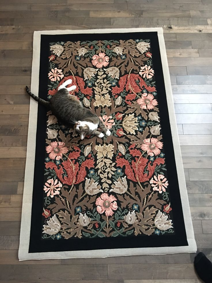 Andrew Winsett sent this picture of his Compton rug, passing the ultimate approval test!