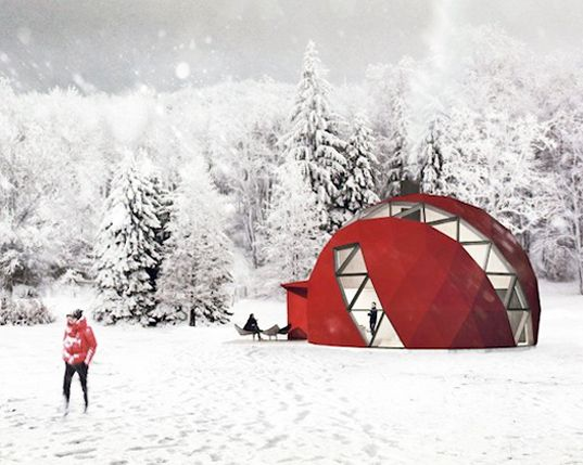 This foldable off-grid geodesic DOM(E) home can be erected as far afield as the desert or Siberia and it will keep its occupants cool or warm