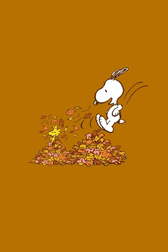 Fall Themed Iphone 6 Wallpaper 97 Best Snoopy Peanuts Fall Images On Pinterest Charlie