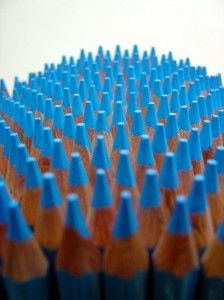 This colour blue is very fun and uplifting (plus, all those pencils are cool too!). Top Pinterest pick by RetoxMagazine.com
