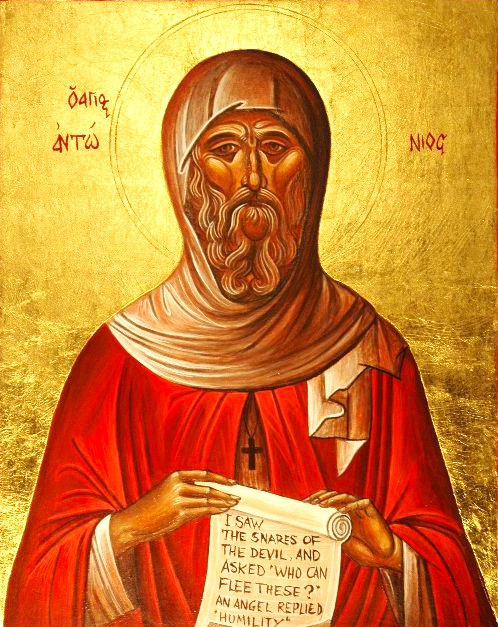 The life of Saint Anthony the Great (3rd cent Egypt), founder of monasticism - http://full-of-grace-and-truth.blogspot.com/2009/01/st-anthony-great.html