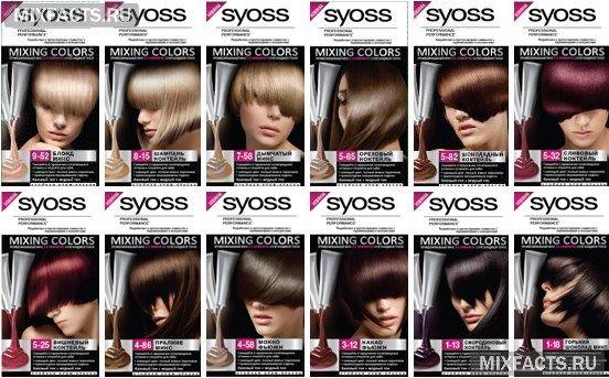 цвета краски для волос syoss