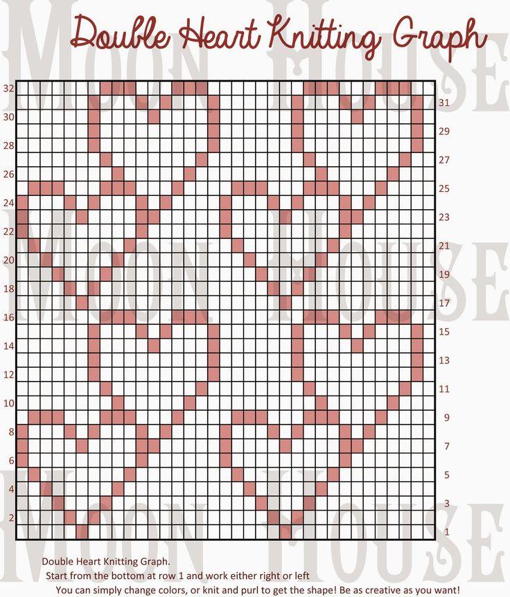 Double Heart Knitting Chart