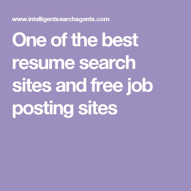 one of the best resume search sites and free job posting sites - Free Resume Search Sites