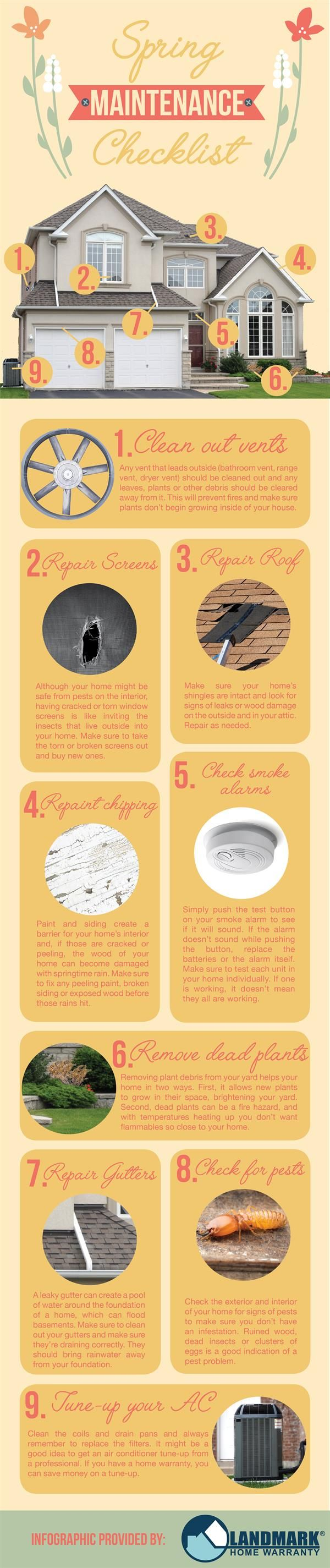 Do some spring cleaning with this Spring Maintenance Checklist!
