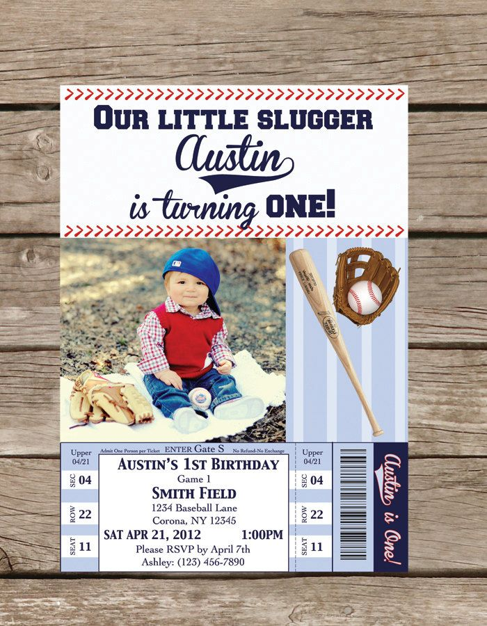Photo Baseball Birthday Invitation - Printable. $14.00, via Etsy.