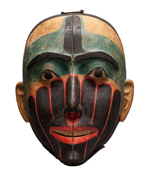 Haida Hermaphrodite Mask The Haida people are an indigenous people of British Columbia, Canada and British North America
