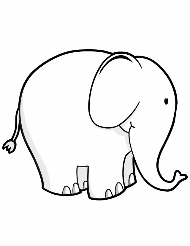 Elephant - Free Printable Coloring Pages