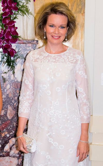 Queen Mathilde and Queen Maxima at Piano Competition