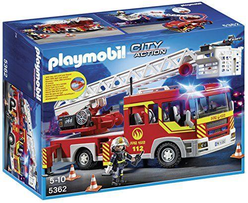 Playmobil – 5362 – Jeu De Construction – Camion Pompiers + Echelle: Descriptif produit: Vite, il y a des habitants pris au piège par…