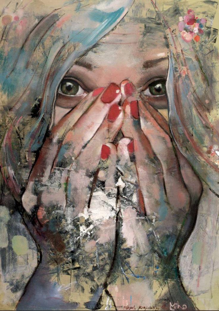 """Saatchi Art Artist Mihail  Korubin  - Miho; Painting, """"Bliss"""" #art"""