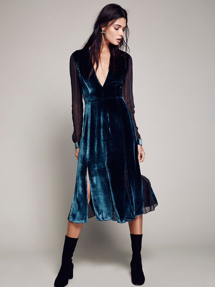 Amelina Velvet Dress from Free People!