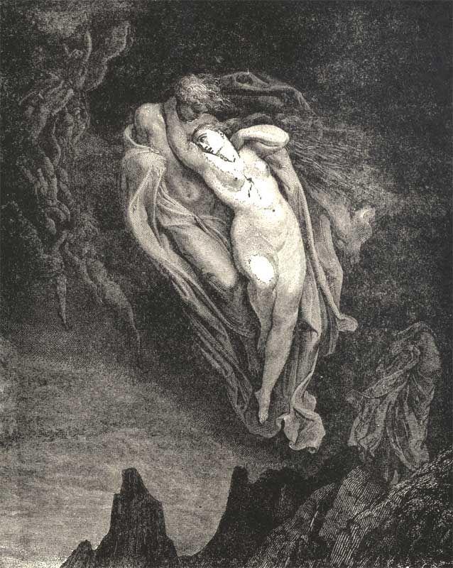 Gustave Doré - Paolo e Francesca (Inferno de Dante)