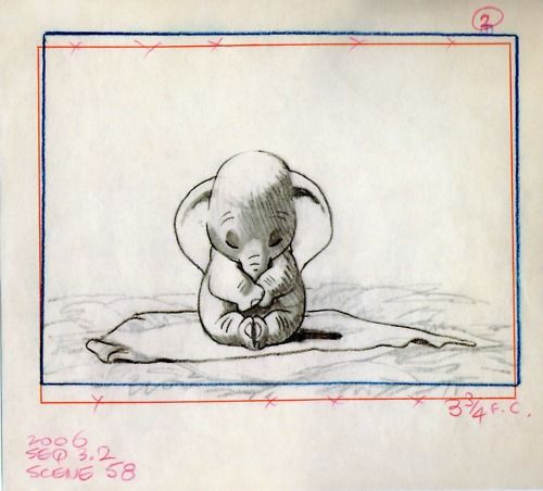 Baby Dumbo - Dumbo: Dumbo Tattoo, Disney Animal, Disney Tattoo Ideas, Concept Art, Elephant, Baby Dumbo, A Tattoo, Cute Tattoo, Disney Movie