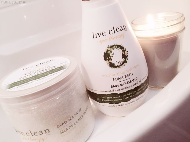 Live Clean Spa Therapy Bath Products Review
