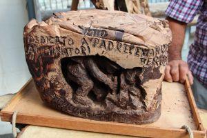 opera di Giulio Jaquemod in mostra a Chocolathuile_ sculture in cioccolato