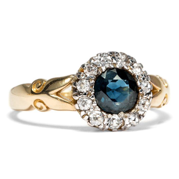 """Ein Gruß der """"schönen Epoche"""" - Bezaubernder viktorianischer Saphir & Diamant-Ring, datiert 1900 von Hofer Antikschmuck aus Berlin // #hoferantikschmuck #antik #schmuck #Ringe #antique #jewellery #jewelry // www.hofer-antikschmuck.de"""