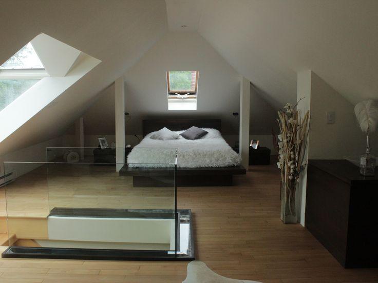 Attic contemporary bedroom