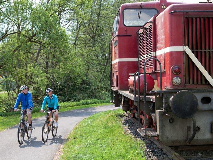 Der Bahnradweg in der Region Vogelsberg in Hessen. #HessenTourismus #ExpeditionHessen #VisitHessen