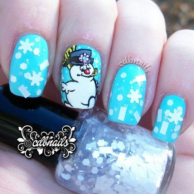 25 best ideas about snowman nail art on pinterest