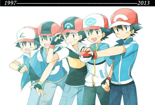 Evolution of Ash Ketchum 1997 - 2013 (Pokemon)