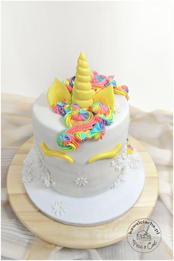 rainbow unicorn cake, tort dla dziewczynki tęczowy jednorożec więcej na www.pieceacake.pl