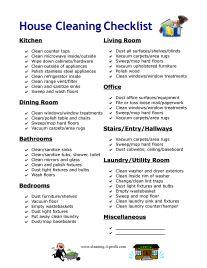 Best Cleaning Checklist Images On   Checklist Template